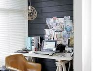 ID : working spaces & style / spaces and pieces for working, home office, studio, workspace