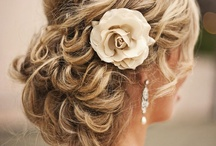 Wedding Hair / Beautiful hairstyles to match the perfect wedding and inspire me to go to the salon.