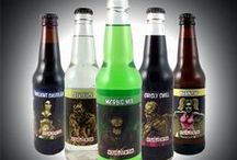 Halloween Soda Bottles / Looking for truly unique Halloween soda bottles with zombie themed soda label?  These labels were created by famous comic book artists.  The sodas have fun, spooky names and they are delicious tasting!  Tell your friends, order today and have fun with this treat for Halloween.