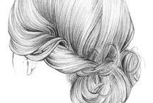 -Hair drawings-
