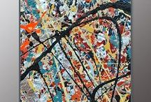 James Homer Brown - Pollock Style / Jackson Pollock style Action Paintings by James Homer Brown