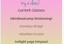 class schedule / current classes