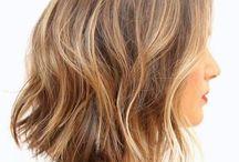 Hair / Lob | short hair ideas | bronde | honey highlights