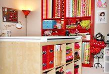 Craft room ideas and organization / by Stephanie Wisness