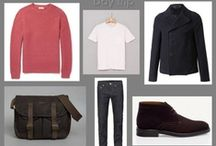 """Men's capsule wardrobes / A collection of men's """"Capsule Wardrobes"""" to show how you can mix and match your clothing to create a variety of looks."""