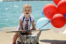 4th of July! / Babies, Toddler, Kids: Patriotic baby boy clothes, 4th of July outfits for baby boys, Kid party ideas, patriotic desserts and games
