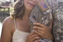 Military Couples / We're all about supporting our military. From gifts to quotes to pictures, and the love that military couples share with each other.