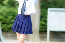 Japanese girls in pleated skirt / Sexy, adult (+18)  japanese, Korean girls dressed in all kinds of pleats
