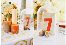 Table Numbers & Escort Cards / Cool ideas and what we have seen in our space
