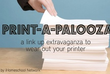 10 Days of - Print-A-Palooza / Link up your FREE printables over at iHomeschool Networks Print-A-Palooza link up.