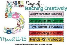 Teaching Creatively / Join in with moms who are sharing on Teaching Creatively  Day 1 Delight Directed Teaching, Day 2 Schooling in the Kitchen, Day 3 Toys, Games & Puzzles, Day 4 Homeschooling in a Crisis, Day 5 Hands on Projects