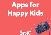 """Apps for Happy Kids / The StoryBots' """"Happy Kids"""" collection of web and mobile apps is guaranteed  to entertain grown-ups as much as children!"""