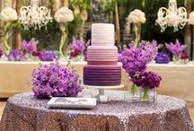 2014 Trend: Radiant Orchid / Pantone's color of 2014 is Radiant Orchid- a pretty pinky-purple that is a great hue for a wedding.