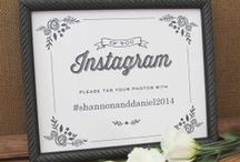 2014 Trend: Custom Hashtags / It's all about the Instagram hashtag as a way of collecting guest photos! Couples are creating signs to inform guests of their Instagram hashtags so that all the photos of their wedding will be easily accessed. (#harrisonandjillian for example)