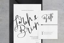 2015 Trend: Modern Calligraphy & Laser-Cut Invites / We absolutely love the look of handwritten calligraphy, whether it's addressing envelopes or on the actual invitation itself. Recently, we've been seeing a variety of modern styles that still feel elegant and sophisticated, but have an added sense of fun and whimsy as well. - Wedding Wire