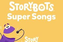 """""""StoryBots Super Songs"""" TV Show / More StoryBots TV is here! Introducing """"StoryBots Super Songs,"""" now streaming on Netflix! Join Beep, Boop, Bing, Bang and Bo as they explore a variety of subjects through music."""