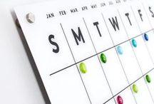 Magnetic Acrylic Calendars / Acrylic calendar
