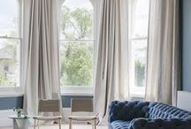 Bay Window Inspirations / Ideas for your bay window. Design your dream curtains and blinds and make your living space shine.