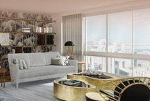 Mid-Century Living Room / Mid-Century Modern Living Room Inspiration