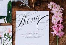 Casamentos | MENU e RECEITAS / Inspirações para você pensar nas comidas que irá servir e como apresentar o menu aos convidados! Também separados receitas para fazer em casa!