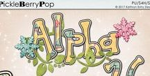 Alphas by Kathryn Estry -- Digital Scrapbooking / Alphabets and Monograms by Kathryn Estry @ Pickleberry Pop Digital Scrapbooking Store