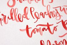 .hand lettering.