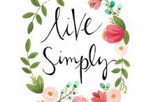 Simple / Simple living