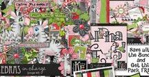 Zebras In Charge Digital Scrapbooking Collection by Kathryn Estry / Fun and whimsical, Zebras in Charge will make the cutest pages!  The characters in Zebras in Charge are Kathryn's Original Characters and are available exclusively in scrap kits sold by Kathryn Estry. They are created larger than you may need so that you can easily size them however you'd like without losing clarity.  Save with the Bundle and get an extra pack FREE with Purchase!
