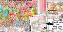 Girly Pink Digital Scrapbooking Collection by Kathryn Estry