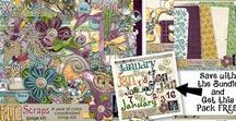 January Scraps Digital Scrapbooking Collection by Kathryn Estry / My Scraps Series is a year of color-coordinated scrap kits.  Because they're all created from the same large color palette, you can mix and match papers and elements throughout the year.  Use them to scrap your life, your memories, your families, and your friends.