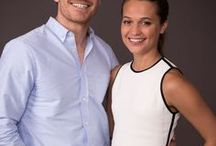 Alicia and Michael Fassbender