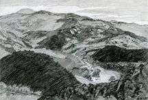 Landscape drawing by Witold Kubicha / My pictures Landscape