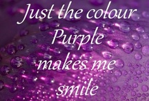 I bleed purple / Anything and everything purple.  Why the title?  Because Purple is a huge part of who I am...It runs throughout me. / by Autumn Meyers