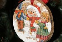 Handmade Christmas / #decoupage #xmas #christmas #decor #ideas