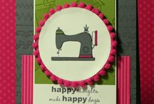 Handmade Cards- Sewing Theme