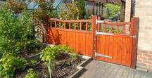 Wooden Garden and Side Gates / Garden Gates and Side Gates. Huge range of designs from traditional to modern. Here are just a few of our wooden gate range. Some people have left them with a stained finish, others have painted them to compliment their home.   All gates are handcrafted in the UK, by Gates and Fences UK to any width or height. We also offer other gate materials such as wrought iron or hardwood and an extensive range of driveway gates and sliding gates.  Get inspired - check out our designs online.