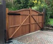 Electric Gates / From traditional double driveway gates to sliding gates. Why have a manual gate when you can have it automated! Examples of a range of systems, sliding, above ground and below ground.   All gates shown have been handcrafted by Gates and Fences UK.