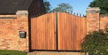 Gates and Fences UK / UK's largest bespoke gate manufacturer. Producers of a huge range of gate types inc Driveway Gates, Sliding Gates, 3/4 Split Gates, Bi-Fold Gates, Side Gates and Garden Gates. Vast designs with a choice of materials from Hardwood Iroko to Cedar, Wooden or Wrought Iron. Lovingly crafted by hand using time served construction techniques. Full installation (including electric gates) available.  Get inspired, see us online.