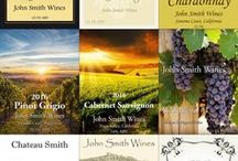 Custom Wine Bottle Labels / Some of our in house wine label templates that we currently have available.    Would you like your bottle to look as great as the wine inside tastes?  Contact us at winemaking@northeastproduce for more information.  The information on the labels are purely place holders and your information can be easily substituted.