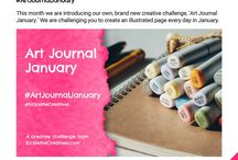 Art Journal Inspiration / The variety of styles and techniques that are created in art journals.