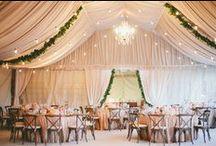 Lighting + Draping. / Inspiration for wedding lighting. For more ideas, check our award-winning luxury wedding planner: www.fetenashville.com.  / by Fête Nashville {Sara Fried}