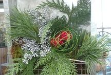 Winter/Holiday Decorating with Naturals & More / Assemble cheerful decorations to celebrate winter and the holidays with ingredients from your garden, evergreens, natural and other decorations purchased at Drummers Garden Center & Floral. Creations run from the simple to the dramatic.