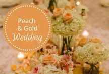 Peach & Gold Wedding designed by Fête Nashville / peach and gold wedding / by Fête Nashville {Sara Fried}