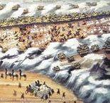 Αναπαραστάσεις μαχών της Ελληνικής Επανάστασης / Αναπαραστάσεις μαχών από τον Ζωγράφο του Μακρυγιάννη. Ο Μακρυγιάννης περιέγραφε τις μάχες και ο καλλιτέχνης τις ζωγράφιζε. Ο ζωγράφος λέγεται ότι ήταν ο Π. Ζωγράφος.