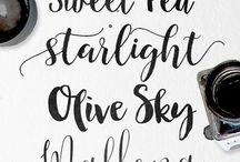 Hochzeit Schriften / wedding fonts
