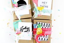 / gift wrapping inspiration / / Wrapping paper, gifts, invitations / invites... all those handmade things that tie up an event.
