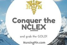 NCLEX / You're studying for the NCLEX!  Congratulations!  Relax!  You'll do fine, you'll pass and you'll become licensed!  Time for that Nursing Pin @ http://NursingPin.com !!