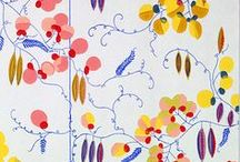 pattern with colour / Inspiration for fabric design. Often 'cultural'/ethnic styles