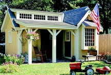 Garden Sheds, Play Houses, and Greenhouses / by Jean Baethge