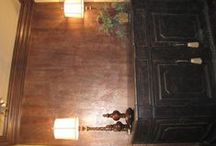 Walls faux finished by Interiors of Distinction